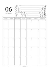 calendrier juin 2017 celine graphiste