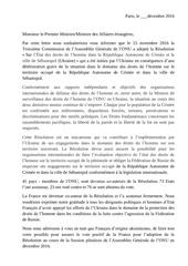 lettre resolution
