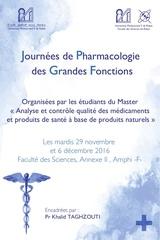 journees de pharmacologie des grandes fonctions