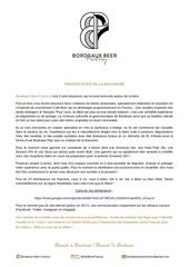 pre sentation brasserie