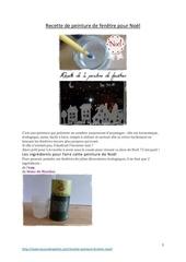 recette de peinture de fenetre pour noel