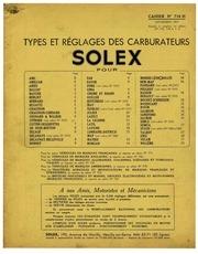 notice solex cahier 7 718h 1955 40