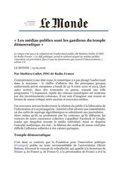 tribune mathieu gallet