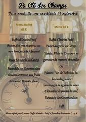 menu st sylvestre