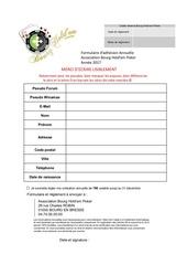 Fichier PDF formulaire