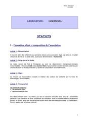 statuts humanisol