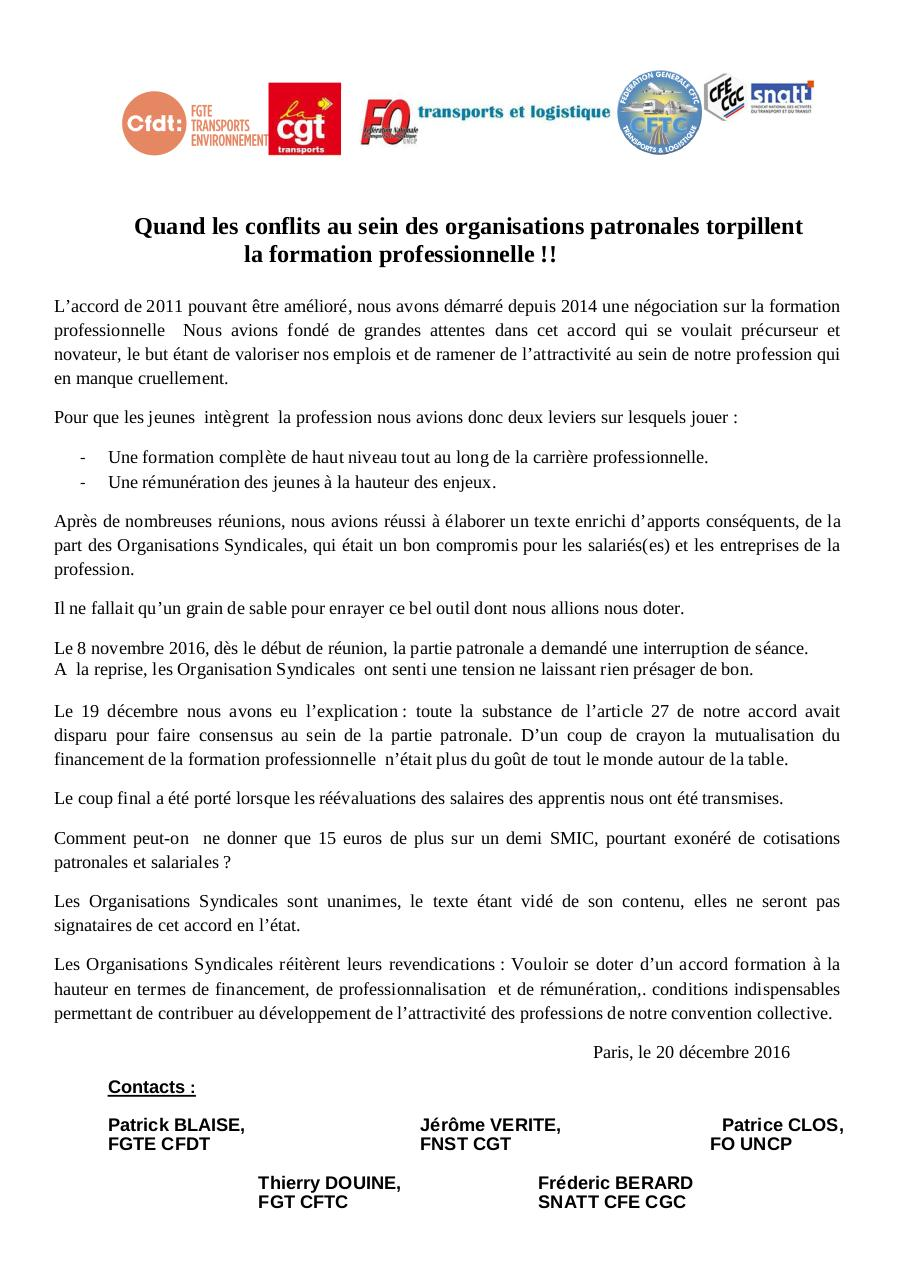 Aperçu du document 2016 12 20 Communiqué Intersyndical Form. Prof..pdf - page 1/1