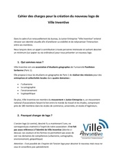 cahier des charges logo