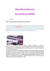 Fichier PDF nouvelle norme pour les containers dasri