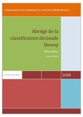 abrege de la classification decimale dewey
