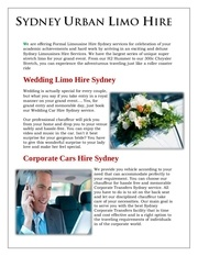 limousine hire northern beaches