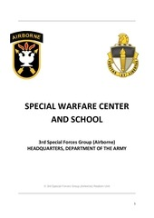 special warfare center and school