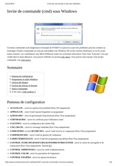 invite de commande cmd sous windows