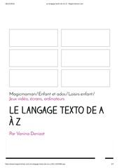 le langage texto de a a z magicmaman
