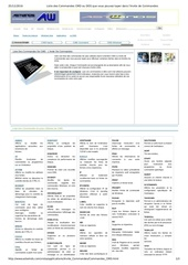 liste des commandes cmdes