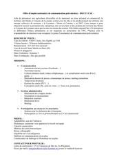 offre assistant e communication polyvalent