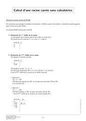 Fichier PDF racine carree sans calculatrice