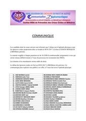 communique officiel mida2