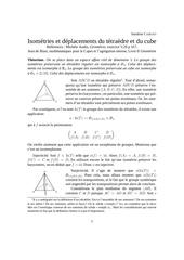 isometries tetraedre et cube sandrine caruso