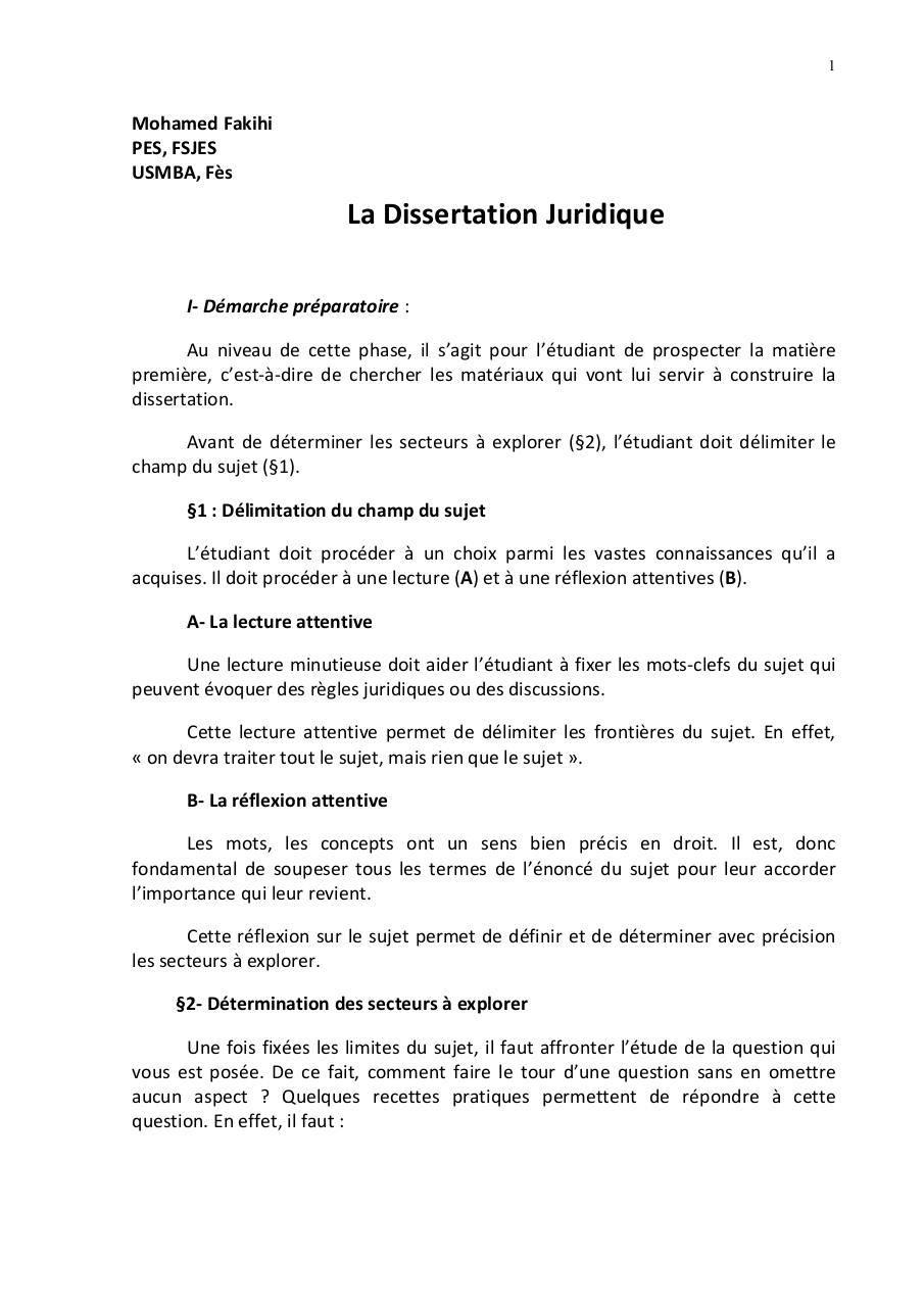 Dissertation juridique plan personal essay chemical engineering