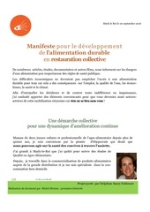 alimentation durable en restauration collective