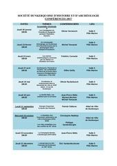 programme des conferences 2017
