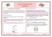 fiche structure des proteines