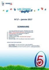 les echos du rugby a 5 janvier 2017 n17