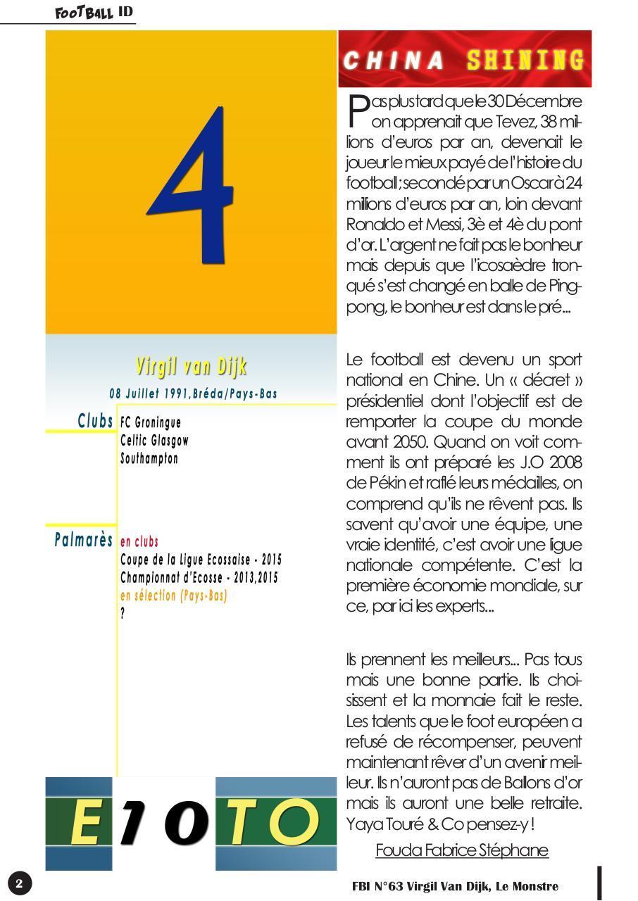 Fbi N63 Virgil Van Dijk Le Monstre Fichier Pdf