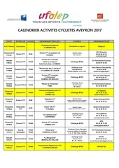 2017 calendrier ufolep activites cyclistes