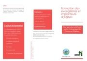 brochure formation evangelistes