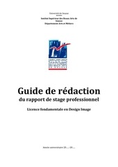 guide de redaction du rapport de stage professionnel dim