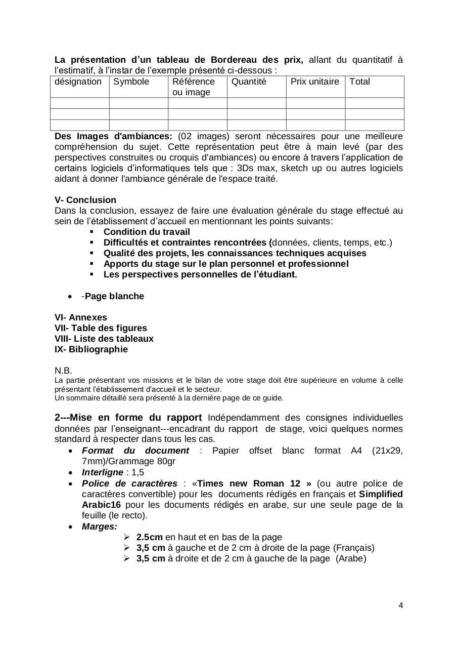 Guide Redaction Du Rapport De Stage Despace Par User