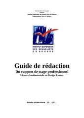 Fichier PDF guide redaction du rapport de stage despace