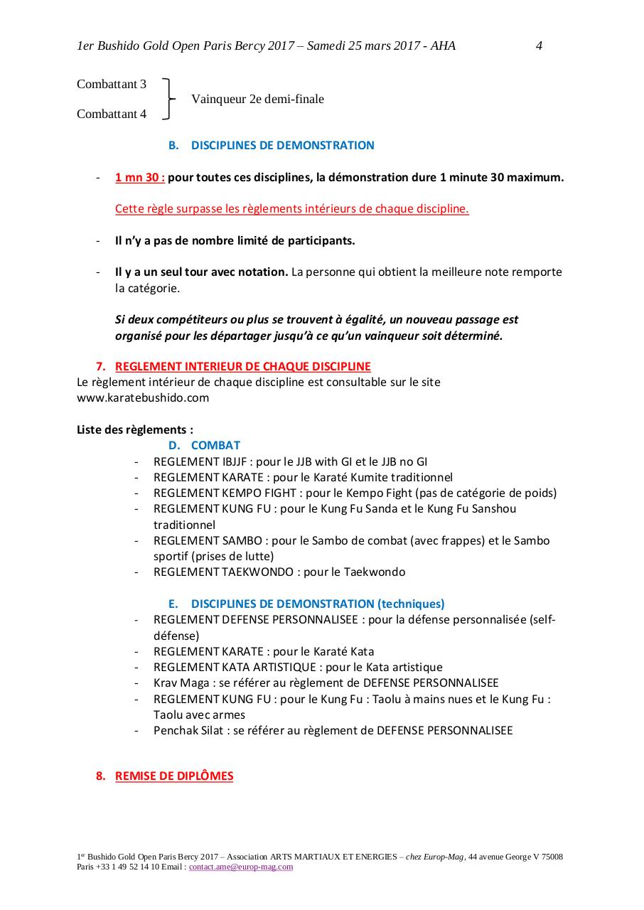 Règlement Officiel 1er Bushido Gold Open.pdf - page 4/12