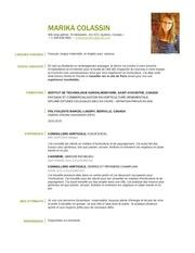 Fichier PDF cv colassinmarika