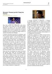 birmanie l honneur perdu d aung san suu kyi