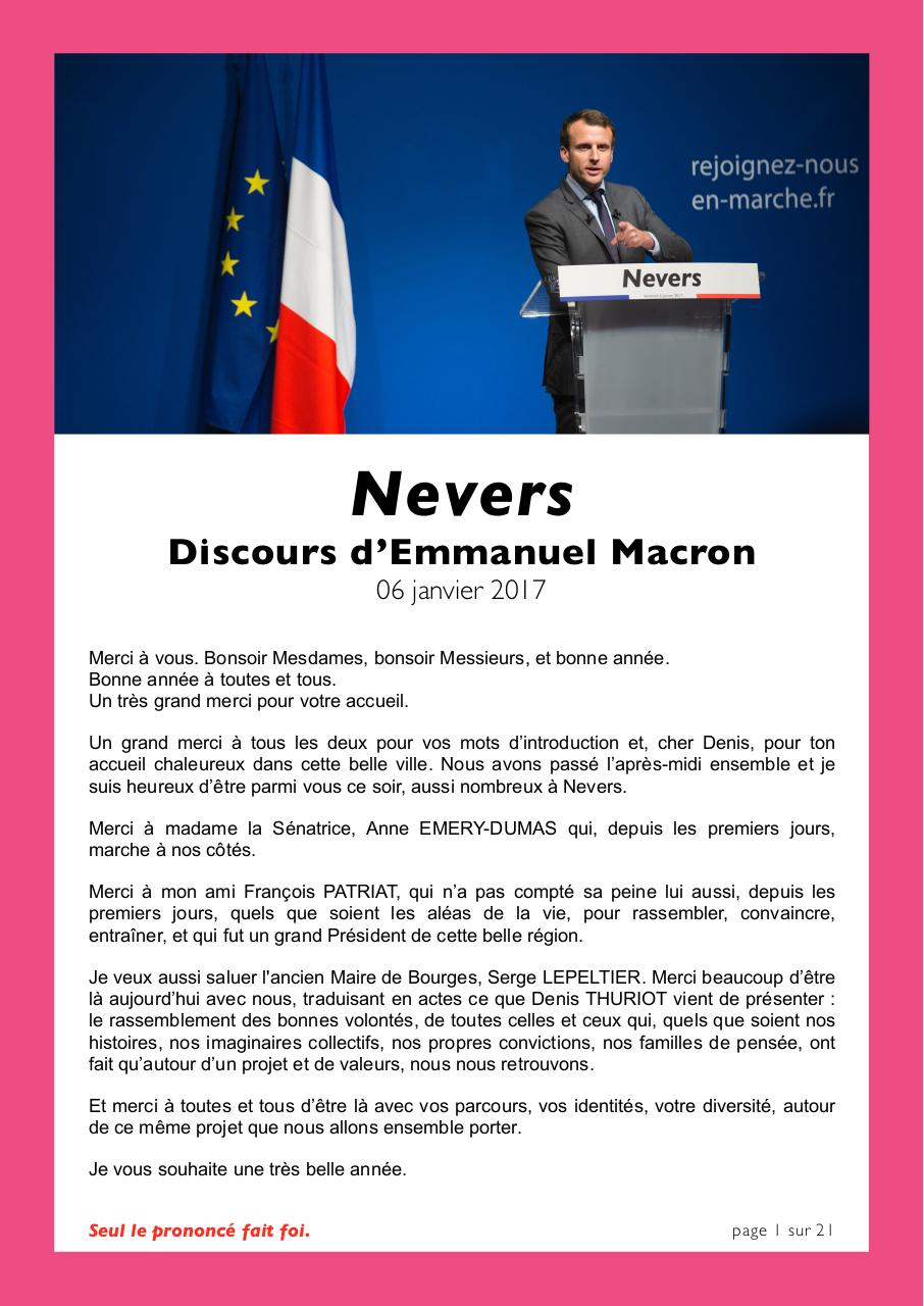 DISCOURS-EMMANUEL-MACRON-NEVERS-06-01-2017.VDEF.pdf - page 1/21