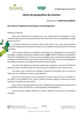 lettre de proposition de services