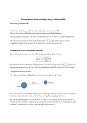 interactions electrostatique et gravitationnelle