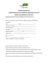 dossier inscription concours se2017