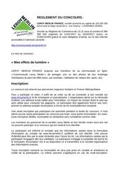 Fichier PDF reglement du concours deco eclairage