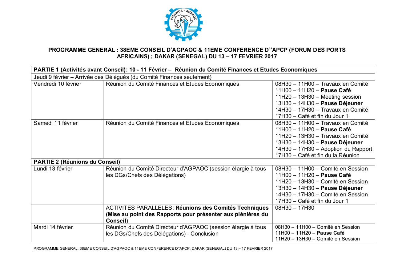 Aperçu du document FINAL PROGRAMME GENERAL-38eme CONSEL d'AGPAOC- Dakar'17.pdf - page 1/5
