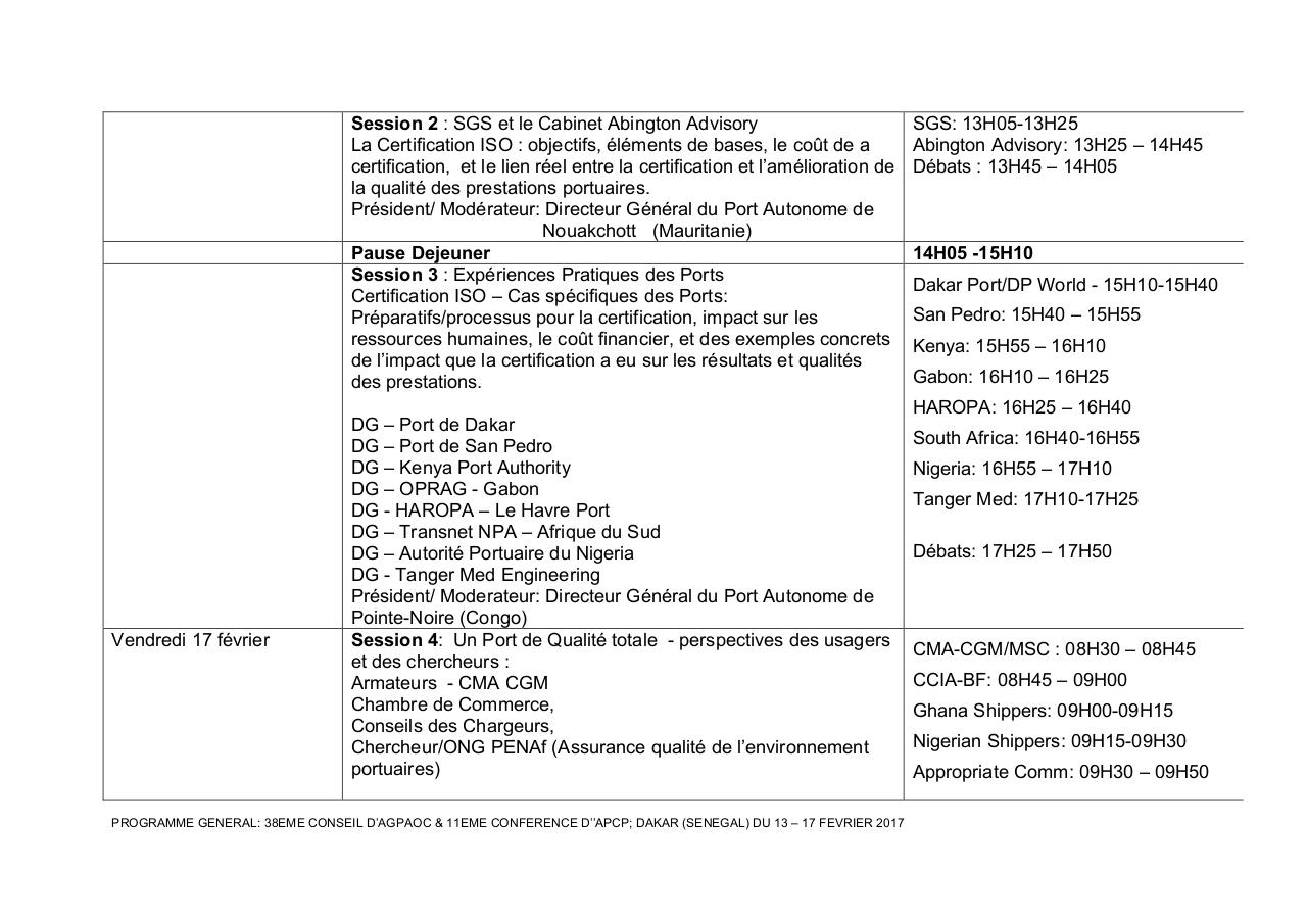 Aperçu du document FINAL PROGRAMME GENERAL-38eme CONSEL d'AGPAOC- Dakar'17.pdf - page 4/5