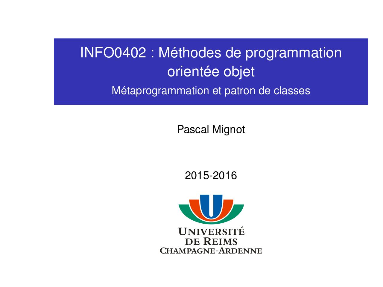 Aperçu du document 06-Metaprogrammation.pdf - page 1/65