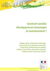 comment concilier developpement economique et environnement