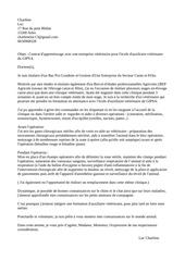 lettre motivation veto