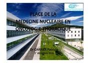 place med nucl en oncologie thoracique