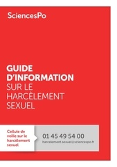 sciencespo guide information sur le harcelement sexuel