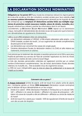 Fichier PDF la dsn
